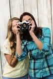 женские друзья 2 детеныша Стоковое Фото