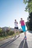 Женские друзья jogging Стоковая Фотография