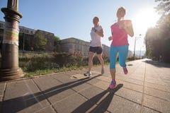 Женские друзья jogging Стоковое Изображение