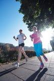 Женские друзья jogging Стоковое фото RF
