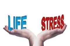 Женские руки балансируя жизнь и стресс 3D формулируют схематическое изображение Стоковая Фотография