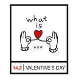 Женские руки давая 2 красных сердца, руку держа красную форму сердца Дайте влюбленность на день ` s валентинки иллюстрация вектора