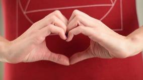Женские руки делая форму сердца видеоматериал