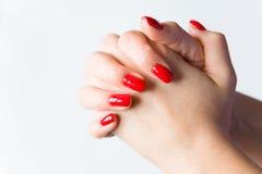 Женские руки сложены с a Стоковое Фото