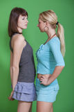 женские соперники стоковое изображение rf