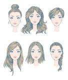 Женские стили причёсок Стоковое Фото