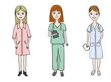 Женские установленные доктора Стоковое Изображение