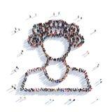 Женские люди 3d красоты Стоковое Изображение