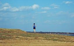 женский бегунок озера Стоковая Фотография RF