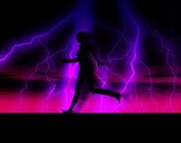 Женский бегунок 34 иллюстрация вектора