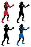 Женский бокс боксера иллюстрация вектора