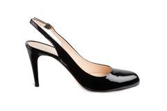 Женский ботинок лакированной кожи Стоковая Фотография RF