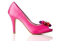 Женский ботинок на белизне Стоковая Фотография RF