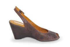 Женский ботинок на белой предпосылке Стоковое Фото