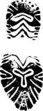 женский ботинок печати Стоковая Фотография