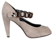 Женский ботинок с высокой пяткой Стоковое Изображение