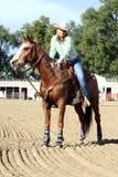 женский всадник horseback Стоковые Фотографии RF