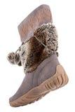 Женский высокий ботинок изолированный на белой предпосылке Стоковые Фото