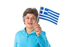 женский греческий старший стоковая фотография rf