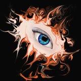 Женский глаз на абстрактной предпосылке Стоковые Фотографии RF