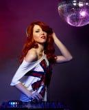 Женский жокей диско Стоковая Фотография