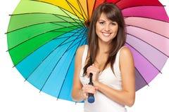 женский зонтик вниз Стоковое фото RF