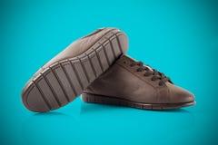 Женский кожаный ботинок Стоковое Изображение