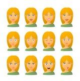 Женский комплект выражения воплощения бесплатная иллюстрация