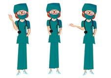 Женский комплект представления доктора стоковые фотографии rf