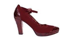 женский красный ботинок Стоковое Изображение