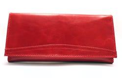 женский красный цвет портмона Стоковая Фотография RF