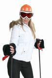 женский лыжник стоковое изображение