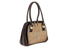 Женский мешок коричневого цвета Стоковые Изображения