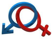 женский мыжской знак Стоковое Изображение
