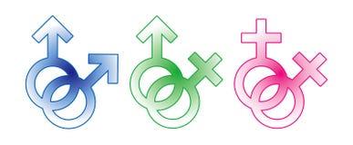 женский мыжской знак Стоковая Фотография