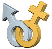 женский мыжской символ Стоковое Изображение