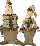 женский мыжской шериф Стоковые Изображения RF