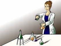 женский научный работник лаборатории Стоковые Фото