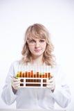 женский научный работник Стоковое Изображение
