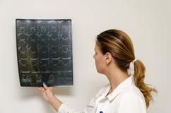 Женский доктор проверяя Г-НА Стоковое Изображение