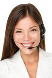 Женский оператор центра телефонного обслуживания Стоковое фото RF