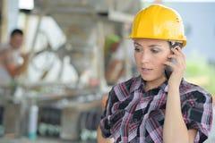 Женский организатор конструкции на телефоне Стоковое Изображение