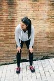 женский отдыхая бегунок стоковое изображение rf