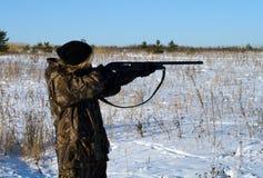 женский охотник стоковое изображение