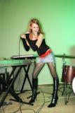 женский петь Стоковое Изображение RF