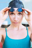 женский пловец Стоковое Изображение RF