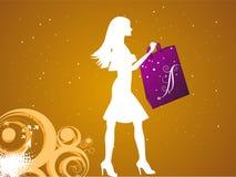 женский покупатель Стоковые Изображения RF