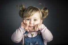 Женский портрет ребенк Стоковое фото RF