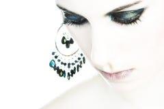 женский портрет светлого тонового изображения Стоковые Изображения RF