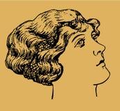 женский портрет бесплатная иллюстрация